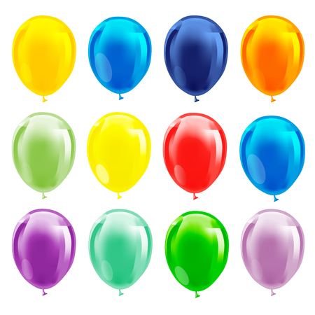 baloons: Set of colourful birthday or party balloons. Vector illustration