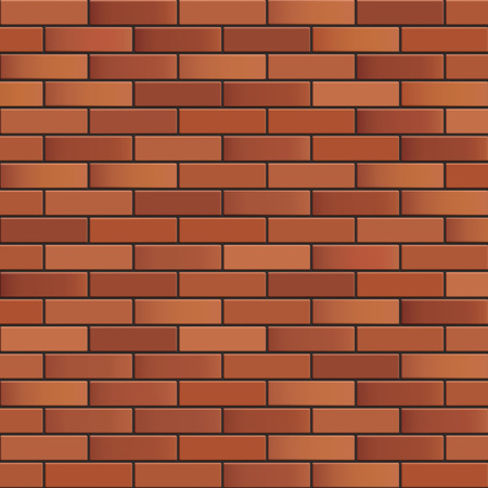 replicate: Seamless brick wall background. Vector texture for continuous replicate