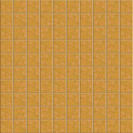 road paving: Brown ceramic tiles pattern for continuous replicate. Vector illustration