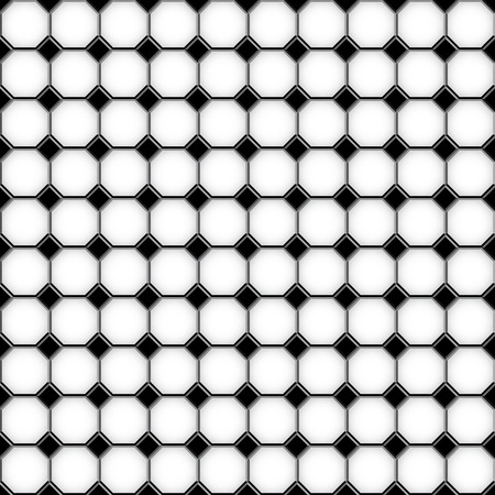 paving stones: Black and white checkered floor tiles seamlessly as a pattern. Vector illustration Illustration