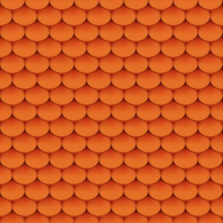 Clay roof tiles seamless pattern. Vector illustration 일러스트