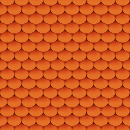 roof shingles: Clay roof tiles seamless pattern. Vector illustration Illustration