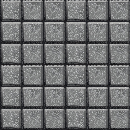 Cobblestone sidewalk made of cubic stones. Seamless vector background.