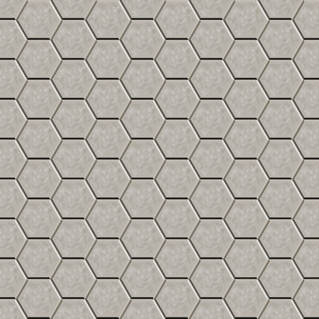 paving stone: Hexagon tiles  pattern for decoration and design tile floor. Seamless pattern. Vector illustration Illustration