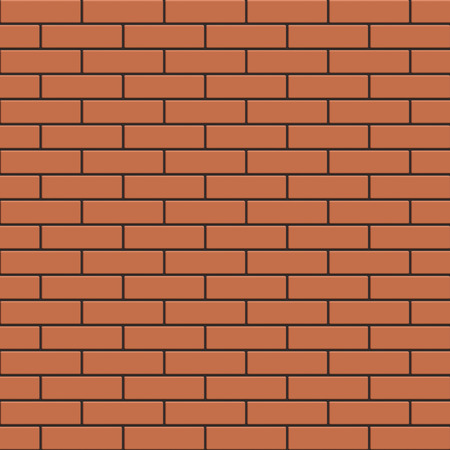 replicate: Red brick wall pattern for continuous replicate. Vector illustration background