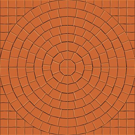 cobblestone street: Seamless pattern for decoration and design tile floor. Vector illustration