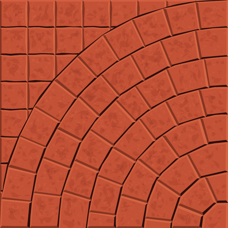 cobblestone street: Pattern for decoration and design tile floor. Vector illustration Illustration
