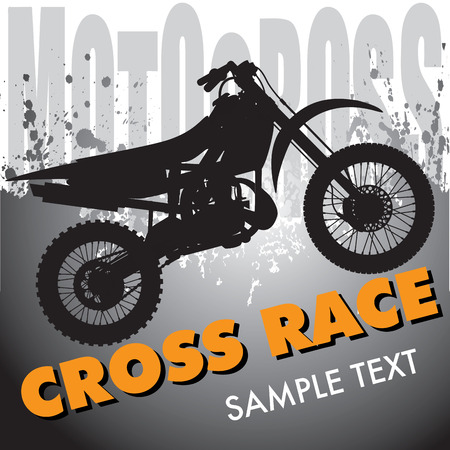 motocross: Motocross background with motorbike silhouette. Vector illustration Illustration