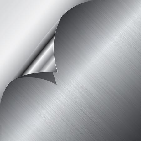 Metal achtergrond of textuur van licht geborsteld stalen plaat. Vector illustratie