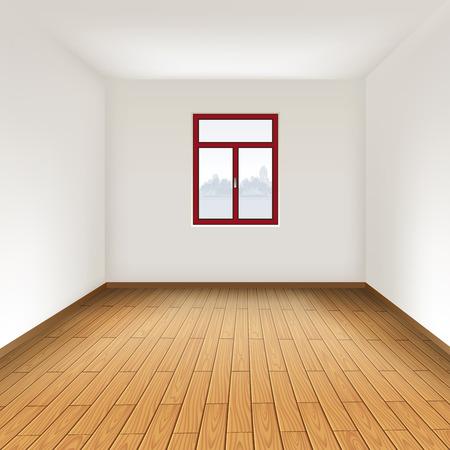 堅木張りの床と空の部屋。