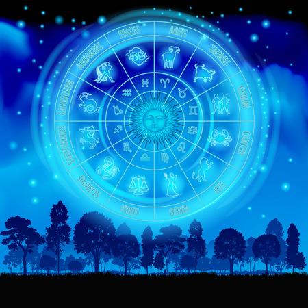 Astrology on the night sky.
