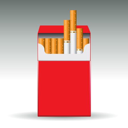 cigarette pack: Pack of cigarettes isolated on background. Vector illustration Illustration