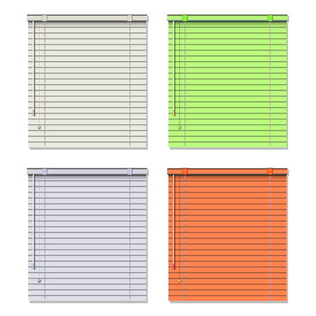 steel texture: Colored blinds isolated on white. Vector illustration