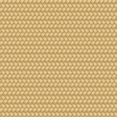 Wooden textured basket. Seamless pattern. Vector illustration  イラスト・ベクター素材
