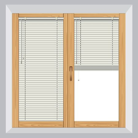 blinds: Blinds in a home catching the sunlight. Vector illustration