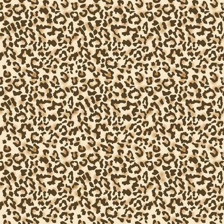 Leopard fur. Realistic seamless fabric pattern. Vector illustration Illustration