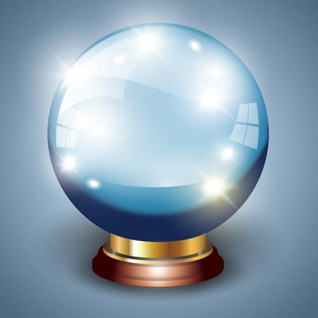 Magische Kristallkugel getrennt über Hintergrund. Vektor-Illustration Standard-Bild - 43870501