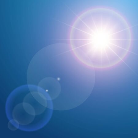 vector design: Lens flare background for your design. Vector illustration Illustration