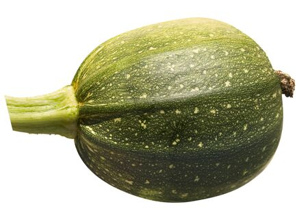 Small green pumpkin isolated on white background Stock Photo
