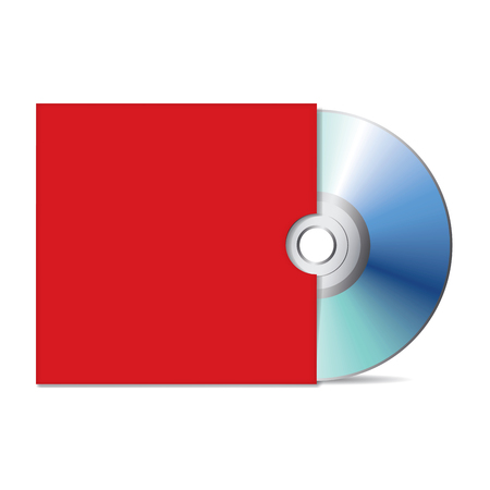 dvd case: CD or DVD with cover isolated on white. Vector illustration Illustration