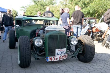 street rod: WARSAW, POLAND - AUGUST 29, 2015: Street Rod on display at American Day in Warsaw, Poland