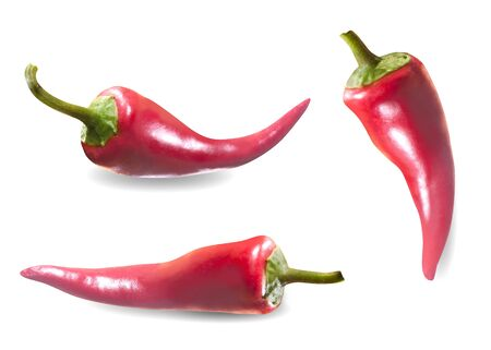 Red chili pepper isolated on a white. Clipping path Stok Fotoğraf