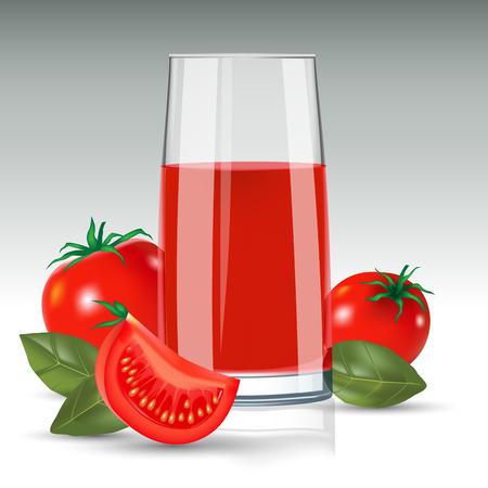 tomato juice: Tomato juice isolated on background. Vector illustration