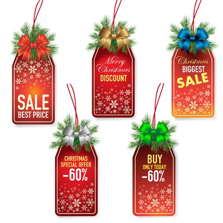 special offer: Christmas price tags Illustration