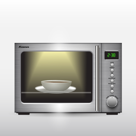 microwave oven: Microwave oven isolated on background. Vector illustration
