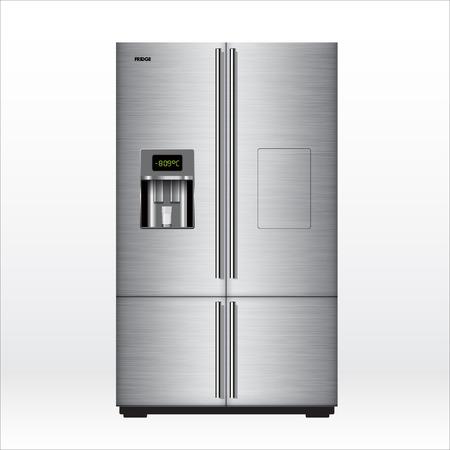 New fridge isolated on white. Vector illustration