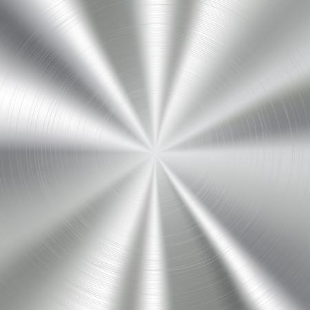 Circolare spazzolato texture di sfondo metallo. Illustrazione vettoriale