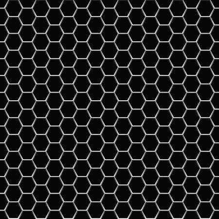 Hexagonal seamless grid background.Vector illustration. Seamless pattern