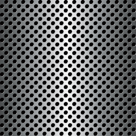 Seamless texture perforated pattern metal surface. Vector illustration