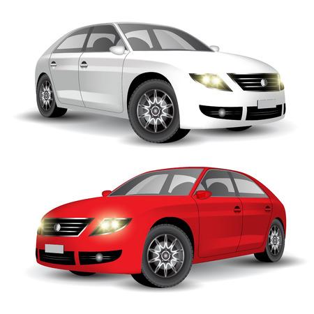 Car of my own design. Vector illustration Illustration