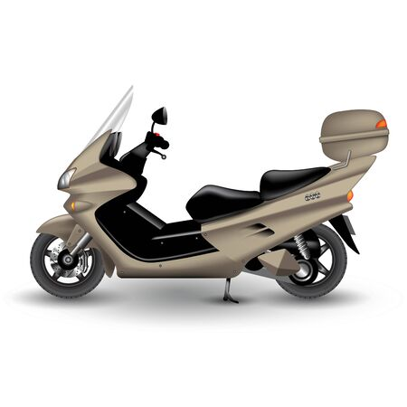 Modern scooter isolated on background. Vector illustration