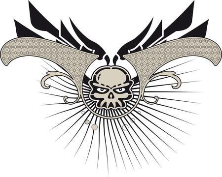 skull background Stock Vector - 3041239