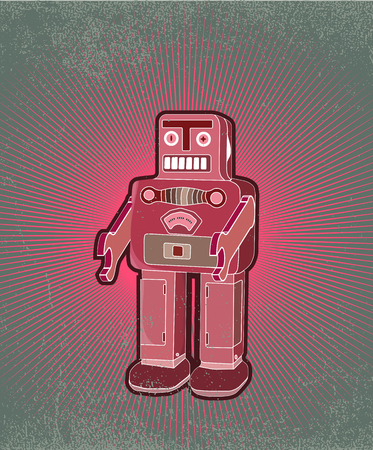 old robot toy Stock Vector - 4743092