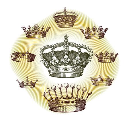 crowns: old crown set