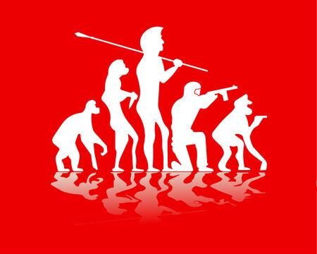 illustration of evolution war Vector