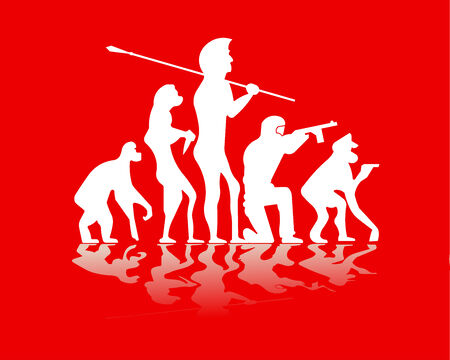 illustration of evolution war Stock Vector - 4792977
