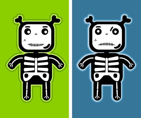 teddy bear vector: illustration - funny child bones Illustration