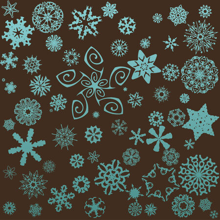 snowflakes background Stock Vector - 5028171