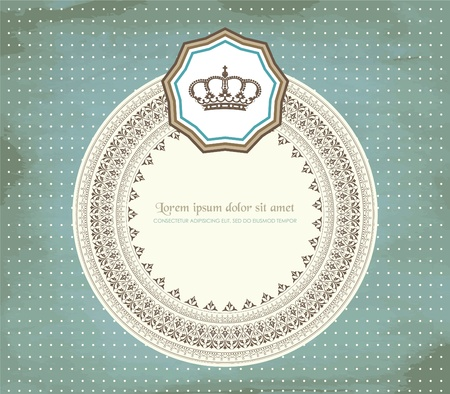 Retro card Vector