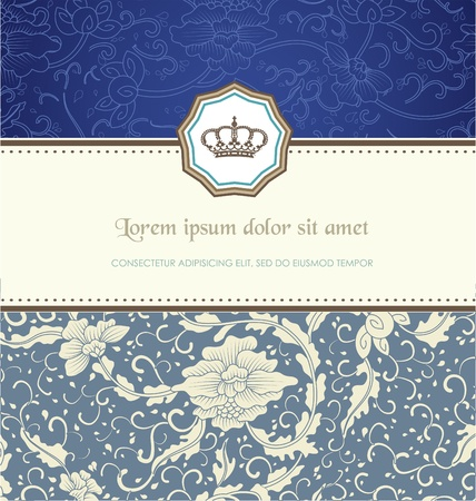 royal invitation: Retro card