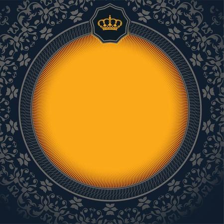corona rey: Tarjeta de Retro