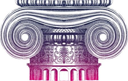 templo griego: Columna de Classic Vectores