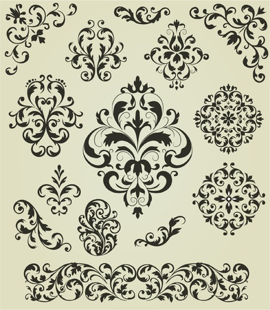 Ornaments set Vector