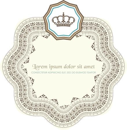 royal wedding: vintage card Illustration