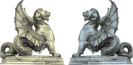 lion wings: estatuas quimera