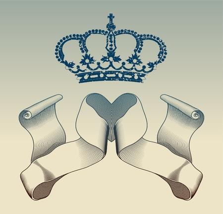 royal: Vintage elements Illustration